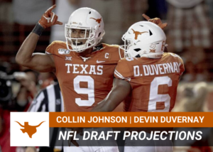 Collin Johnson, Devin Duvernay NFL Draft Projections