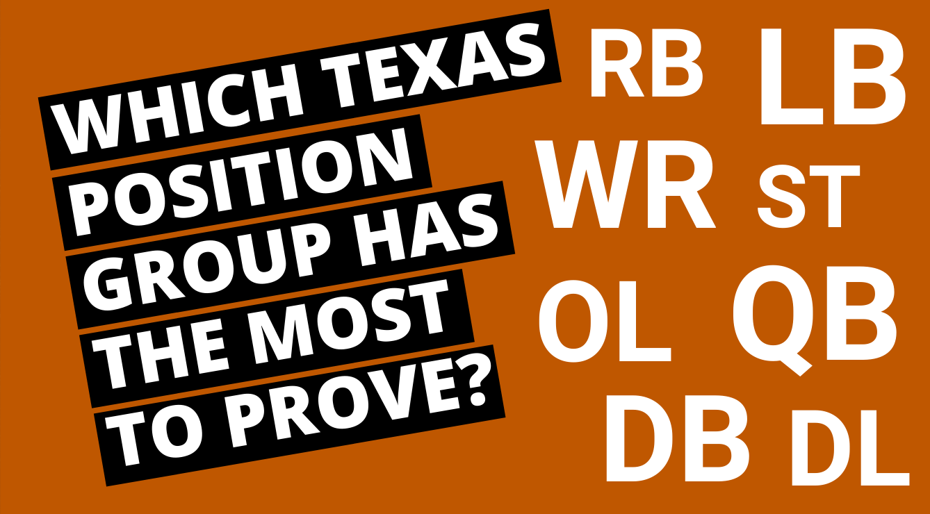 Which Longhorns Position Group Must Step Up the Most?