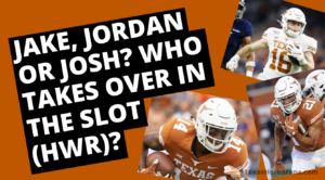 Jake, Jordan or Josh – Who's Next at the HWR Slot?