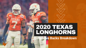 2020 Texas Longhorns Position Preview: Defensive Backs