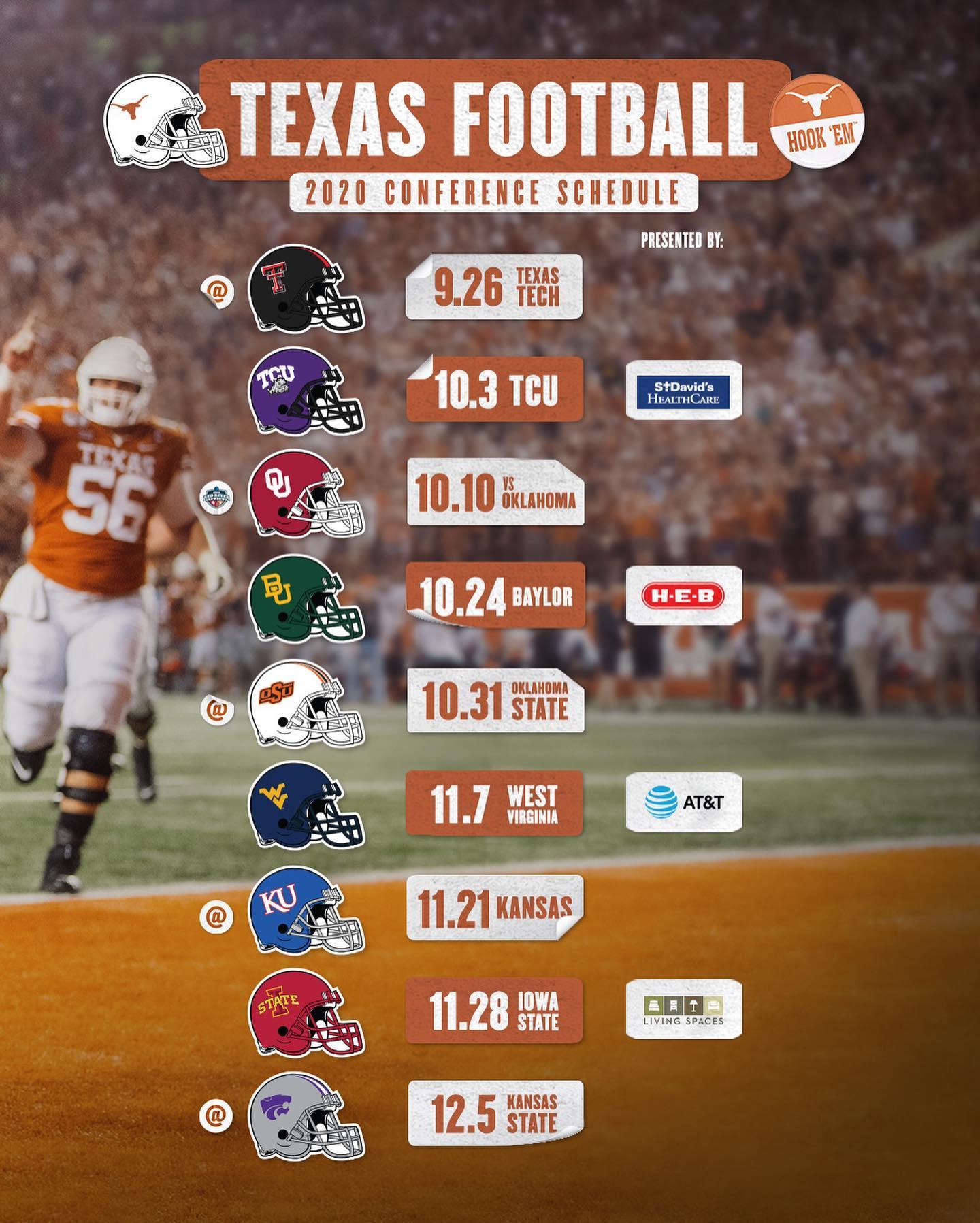 Big 12 Releases New 2020 Football Schedule!