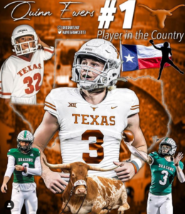 Quinn Ewers, #1 Recruit for 2022 Class, Commits to Texas!