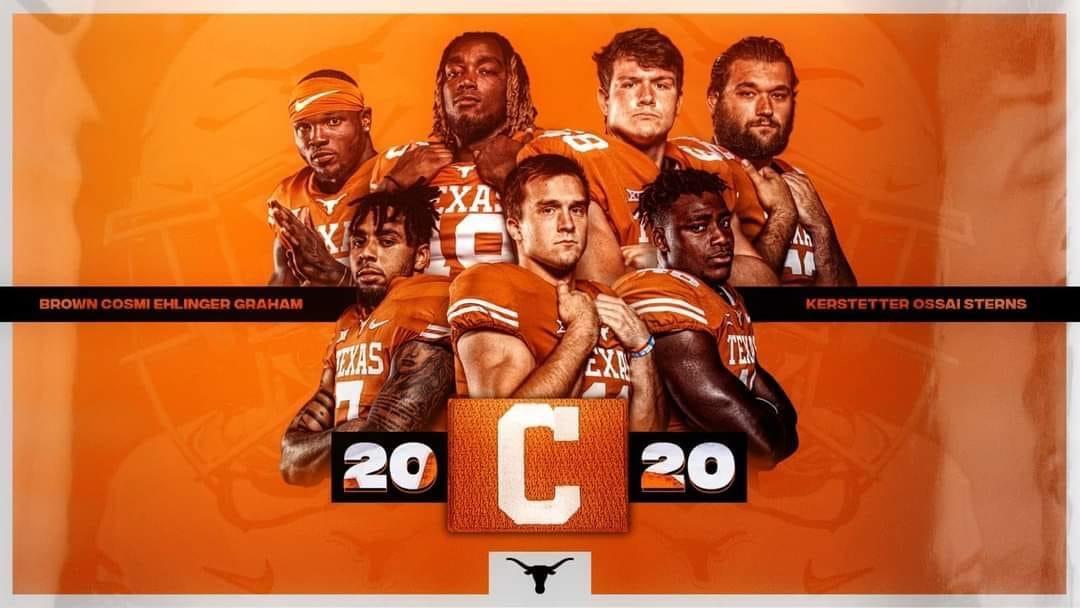 2020 Texas Longhorns Team Captains
