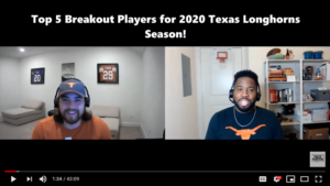 Top 5 Breakout Longhorns for the 2020 Season!