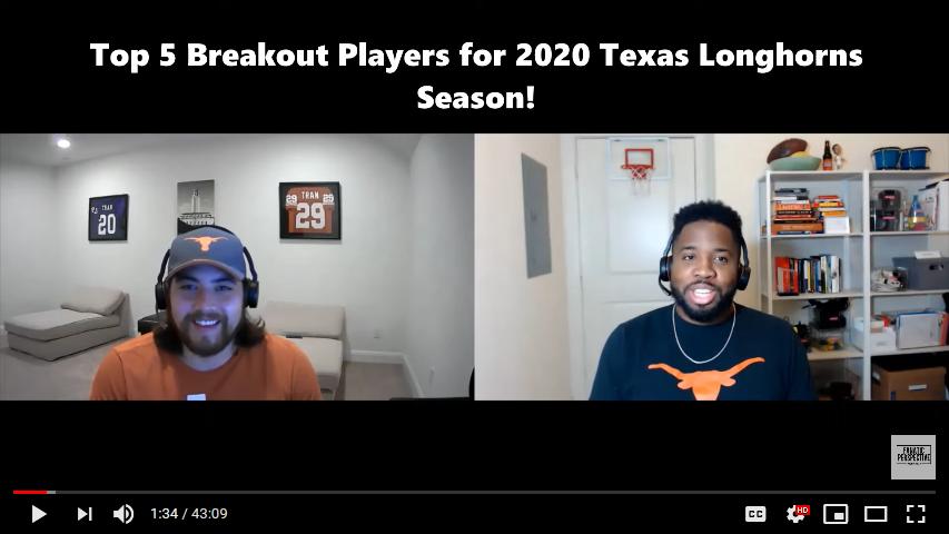 Top 5 Breakout Longhorns for the 2020 Season!