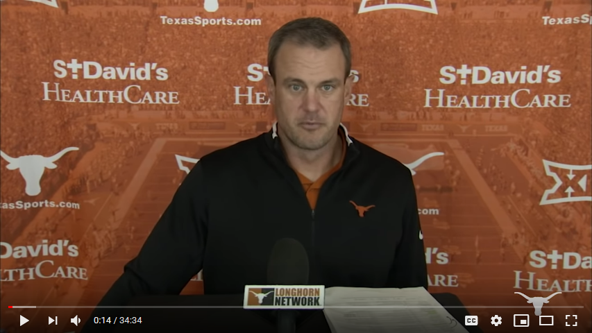 Tom Herman Press Conference – Oct. 19