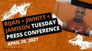 WATCH: Bijan, Whittington, Jamison Tuesday Press Conference