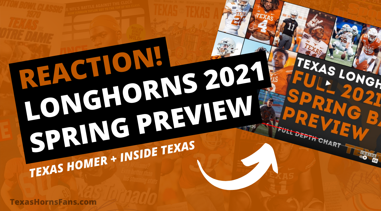 REACTION! Longhorns 2021 Defensive Spring Preview by Texas Homer