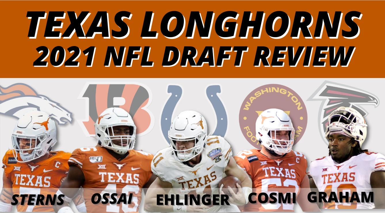 REVIEW: Texas Longhorns 2021 NFL Draft Picks